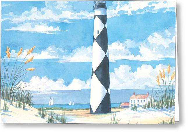 Sea Oats Greeting Cards - Cape Lookout Greeting Card by Paul Brent