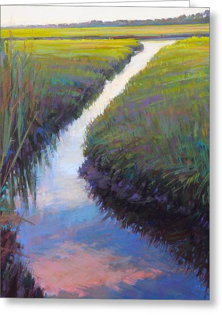 Cape Marsh Greeting Card by Ed Chesnovitch
