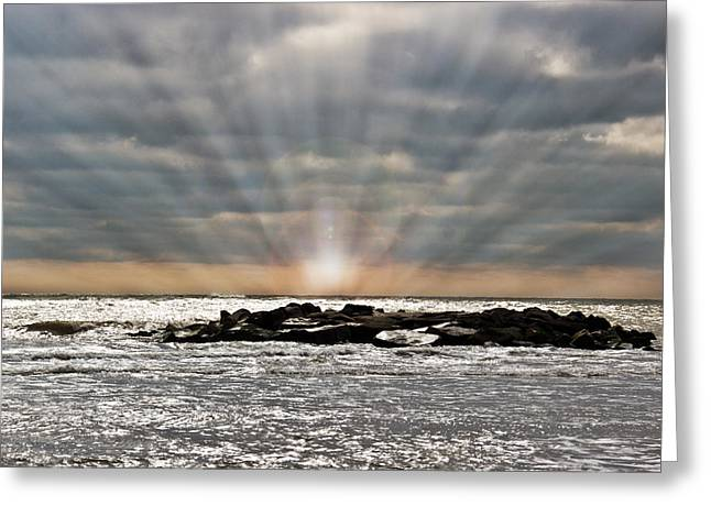 Townsends Inlet Greeting Cards - Cape May After The Storm Greeting Card by Tom Gari Gallery-Three-Photography