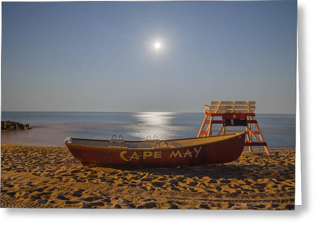 Cape May by Moonlight Greeting Card by Bill Cannon