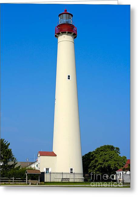 Historic Lighthouses Greeting Cards - Cape May Lighthouse Greeting Card by Anthony Sacco