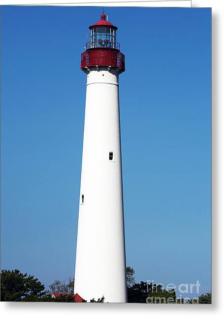 Photo Art Gallery Greeting Cards - Cape May Lighthouse Greeting Card by John Rizzuto