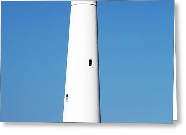 Cape May Lighthouse Greeting Card by John Rizzuto
