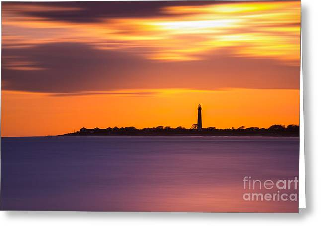 Jerseyshore Greeting Cards - Cape May Lighthouse Long Exposure Greeting Card by Michael Ver Sprill