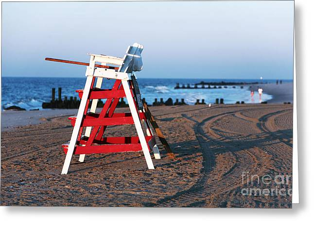 Cape May Morning Greeting Card by John Rizzuto
