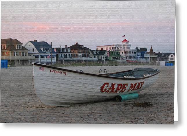 Cape May Remembered Greeting Card by Gordon Beck