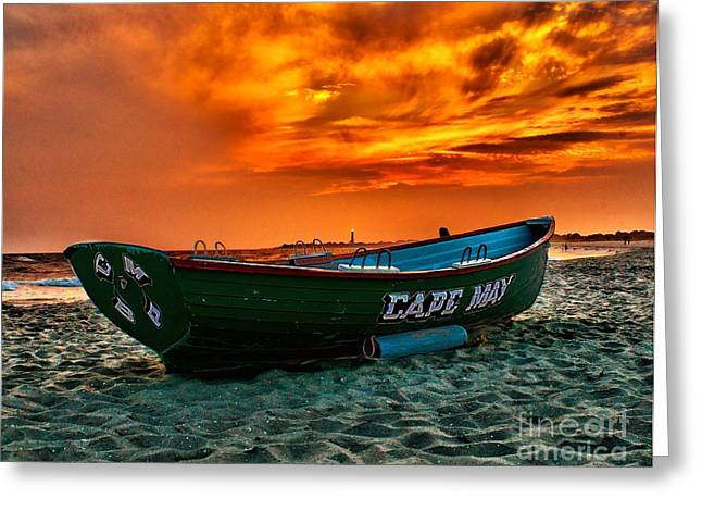 Atlantic Beaches Greeting Cards - Cape May Sunset Greeting Card by Nick Zelinsky