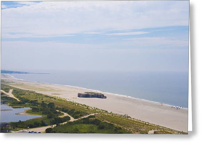 Atlantic Beaches Digital Art Greeting Cards - Cape Mays World War 2 Bunker Greeting Card by Bill Cannon