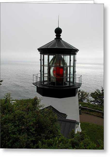Cape Meares Light Greeting Card by Christiane Schulze Art And Photography