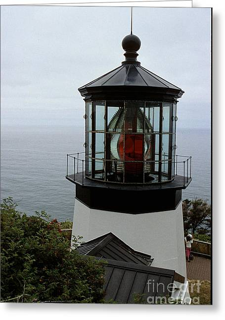 Pacific Ocean Prints Greeting Cards - Cape Meares Light Greeting Card by Sharon Elliott