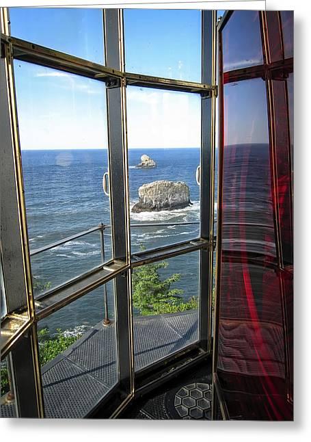 Tillamook Lighthouse Greeting Cards - Cape Meares Lighthouse 2 - Oregon Greeting Card by Daniel Hagerman