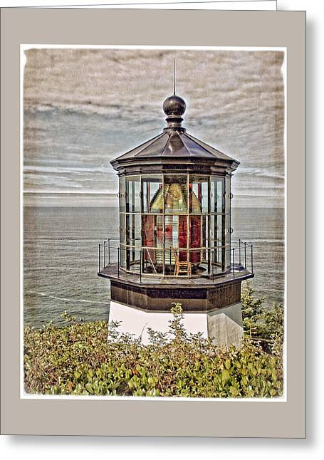 Lighthouse Pictures Greeting Cards - Cape Meares Lighthouse Greeting Card by Thom Zehrfeld