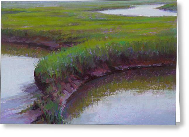 Cape Cod Pastels Greeting Cards - Cape Morning Greeting Card by Ed Chesnovitch