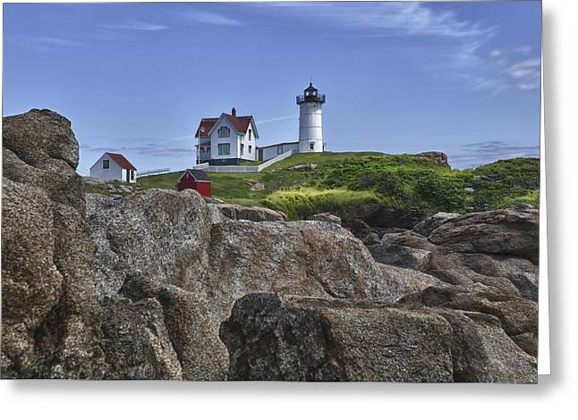 Cape Neddick Greeting Cards - Cape Neddick 1 Greeting Card by Kevin Colton