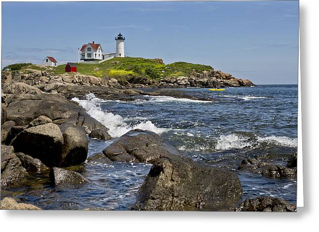 Cape Neddick Greeting Cards - Cape Neddick 2 Greeting Card by Kevin Colton