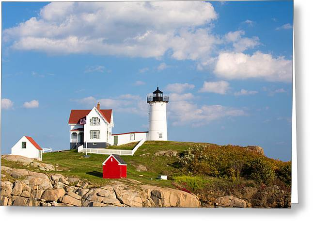 Cape Neddick Greeting Cards - Cape Neddick Light  Greeting Card by Emmanuel Panagiotakis