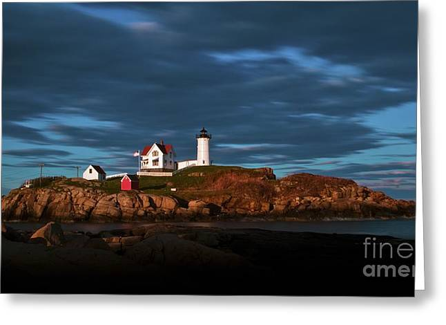 Cape Neddick Greeting Cards - Cape Neddick Light. Greeting Card by New England Photography