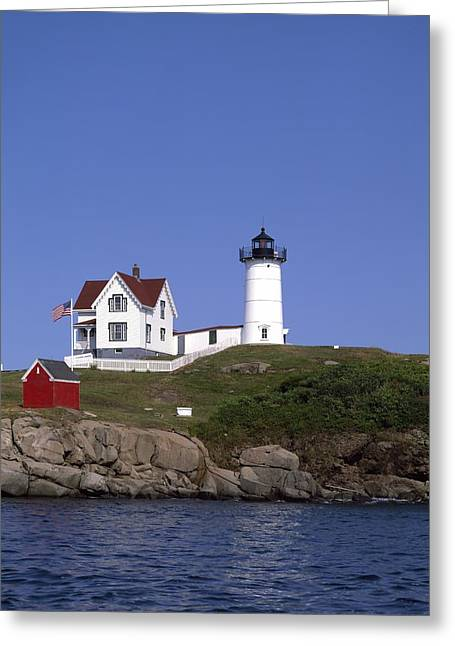 Cape Neddick Lighthouse Greeting Cards - Cape Neddick Light Station in Maine Greeting Card by Mountain Dreams