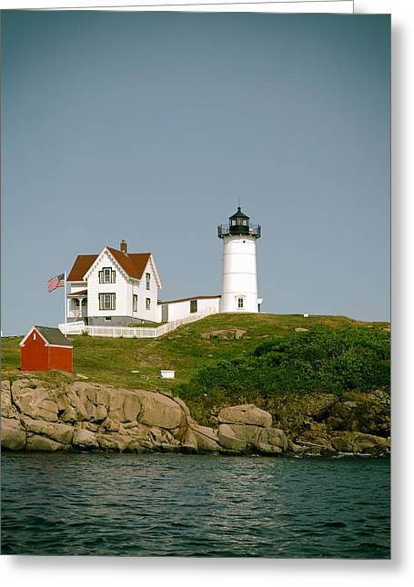 Cape Neddick Lighthouse Greeting Cards - Cape Neddick Light Station Maine Greeting Card by Mountain Dreams