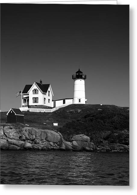 Cape Neddick Lighthouse Greeting Cards - Cape Neddick Light Station Greeting Card by Mountain Dreams