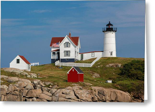 Cape Neddick Greeting Cards - Cape Neddick Lighthouse 1879 Greeting Card by Chris Bates