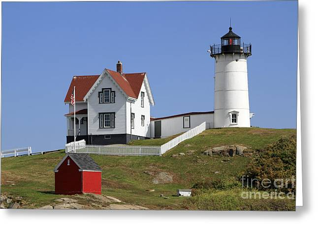 Cape Neddick Greeting Cards - Cape Neddick Lighthouse 3 Greeting Card by John Van Decker