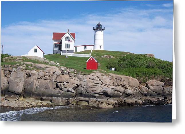 Cape Neddick Greeting Cards - Cape Neddick Lighthouse Greeting Card by Anthony Stone