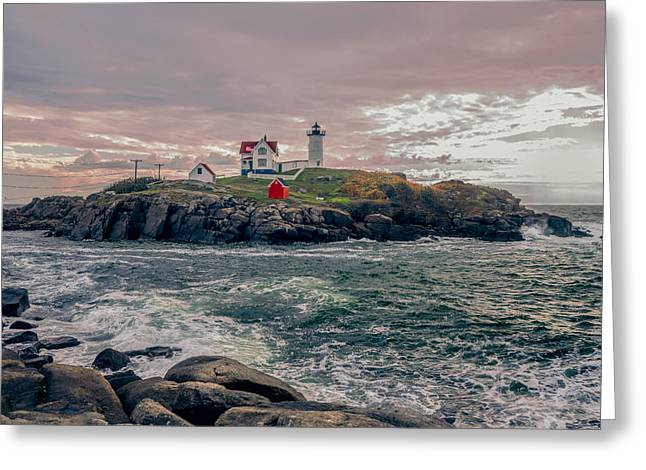 Sohier Park Greeting Cards - Cape Neddick Lighthouse Greeting Card by Erwin Spinner