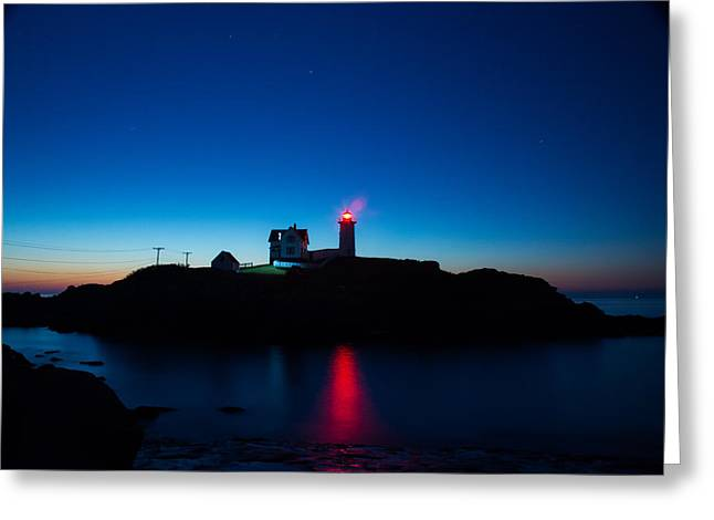 Cape Neddick Greeting Cards - Cape Neddick Lighthouse Greeting Card by Jean Hutchison