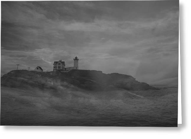 Cape Neddick Greeting Cards - Cape Neddick Lighthouse  Greeting Card by Raymond Salani III