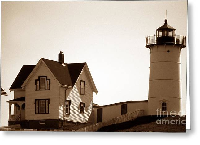 Cape Neddick Lighthouse Greeting Cards - Cape Neddick Lighthouse Greeting Card by Skip Willits