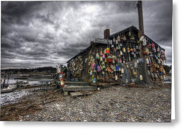 Maine Shore Greeting Cards - Cape Neddick Lobster Pound Greeting Card by Eric Gendron