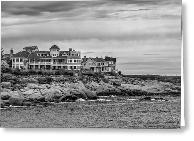 Cape Neddick Greeting Cards - Cape Neddick Resort Greeting Card by Guy Whiteley
