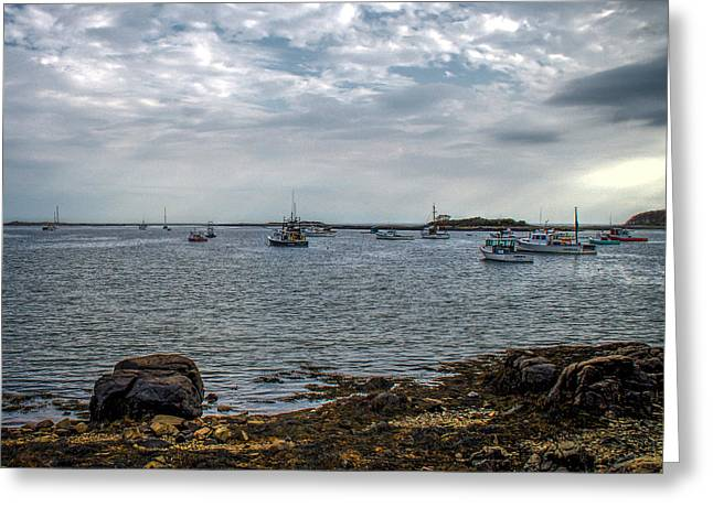 Romantic Greeting Cards - Cape Porpoise Maine - In The Evening Greeting Card by Bob Orsillo