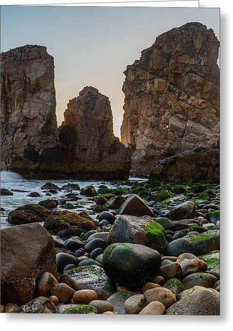 Blue Green Wave Greeting Cards - Cape Roca I Greeting Card by Marco Oliveira