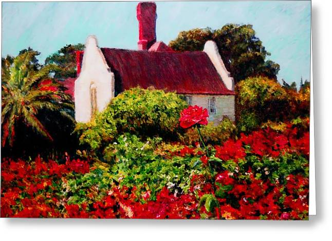 Cape Town Paintings Greeting Cards - Cape Rose Greeting Card by Michael Durst