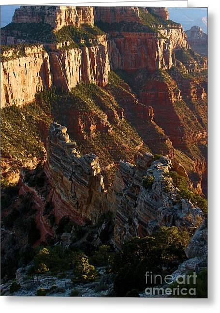 The Grand Canyon Greeting Cards - Cape Royal Portrait Greeting Card by Adam Jewell