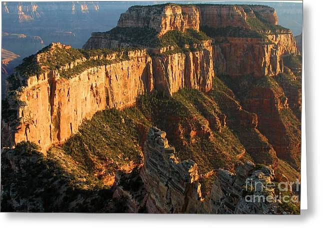 The Grand Canyon Greeting Cards - Cape Royal Towers Greeting Card by Adam Jewell