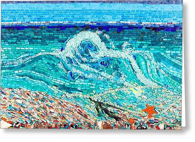 Beaches Glass Art Greeting Cards - Cape Santa Maria Greeting Card by Beverly Thomas Jenkins