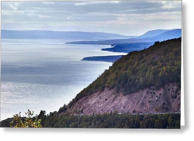 Cape Smokey Lookout Greeting Card by Janet Ashworth