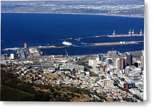 Cape Town Harbour - South Africa Greeting Card by Aidan Moran