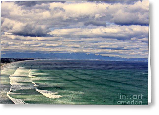 Best Ocean Photography Greeting Cards - Cape Town Indian Ocean Greeting Card by Noa Yerushalmi