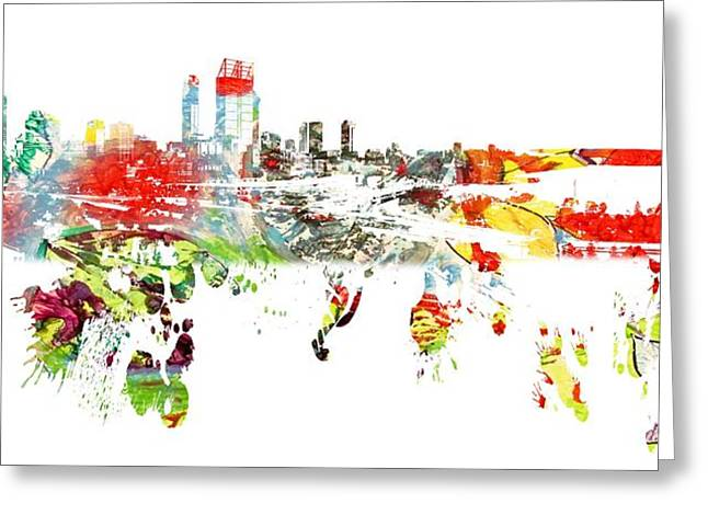 Cape Town Mixed Media Greeting Cards - Cape Town South Africa  Greeting Card by Michael Braham