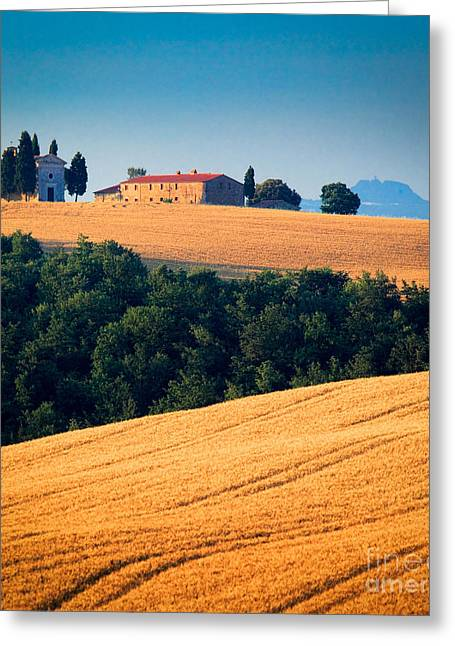 Europe Greeting Cards - Capella di Vitaleta Greeting Card by Inge Johnsson