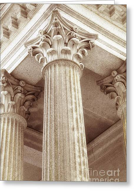 Capital Of The Column Greeting Card by Charline Xia