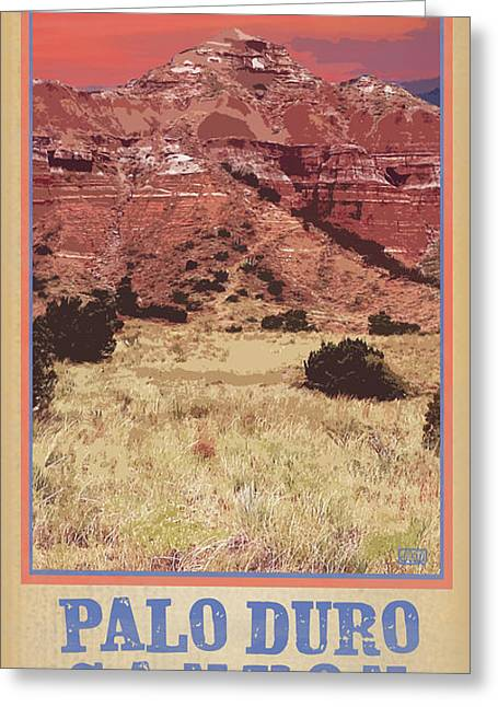 Historical Site Greeting Cards - Capital Peak Palo Duro Canyon Greeting Card by Jim Sanders