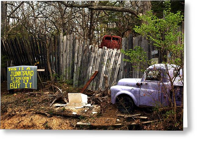 Junk Yard Greeting Cards - Capitalism Greeting Card by Matthew Saindon
