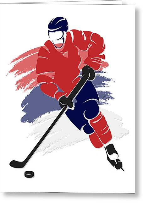 Capital Greeting Cards - Capitals Shadow Player2 Greeting Card by Joe Hamilton