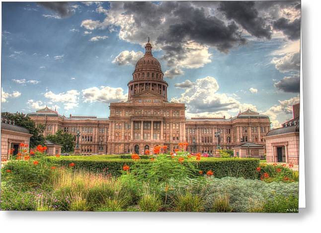 Capitol Flowers Greeting Cards - Capitol Greeting Card by Andrew Nourse