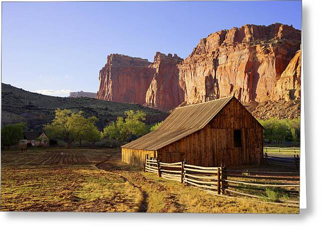 Utah Sky Greeting Cards - Capitol Barn Greeting Card by Chad Dutson